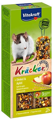 Vitakraft Kräcker für Ratten, mit Dinkel und Apfel (1 x 2Stück)
