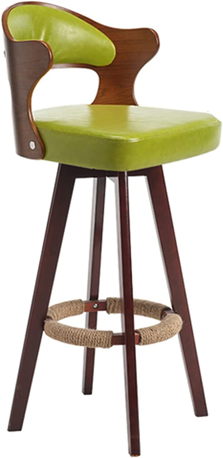 Dealing full price reduction XINLEI <br>Nordic Bar Stool Backrest Wood Chair Manufacturer direct delivery Solid Rotatable