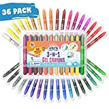 Product Image of the NOYO 36 Colors Gel Crayons for Toddlers and Kids - Non Toxic - 3 in 1 Washable...