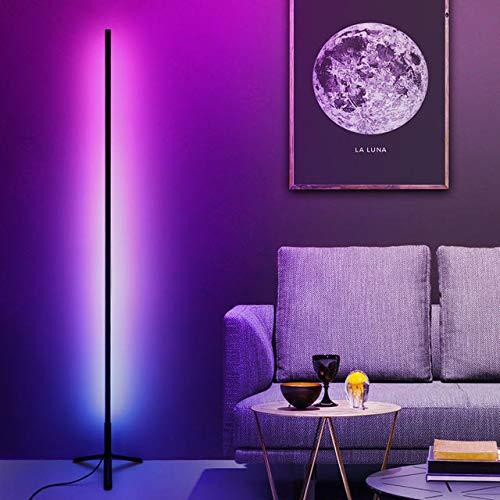 YXYOL LED Corner Stehleuchte, Atmosphäre Licht Minimalism warme Atmosphäre für Wohnzimmer Schlafzimmer Kinderzimmer RGB Farbwechsel Stehleuchte gedämpftes Licht Startseite