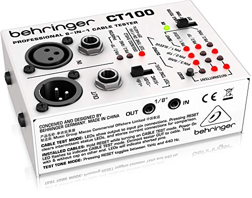 Behringer 6-In-1 CT100 Cable Tester