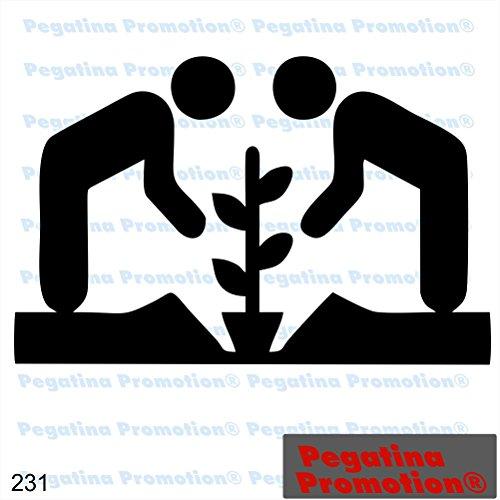 Piktogramm Typ 231 Icon Symbol Zeichen Garten Sonne Blumen Pflanzen Bio Gärtner Gewächshaus Aufkleber ca.15cm von Pegatina Promotion® Aufkleber mit Verklebehilfe von Pegatina Promotion® ohne Hintergrund geplottet