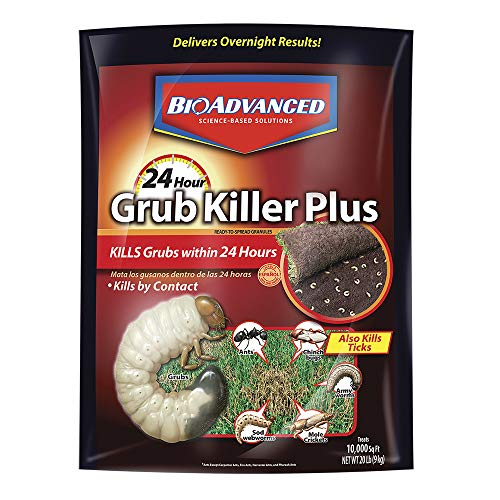 BioAdvanced, Granules, Bayer Advanced 700745S 24 Hour Grub Killer Plus, 20-Pound