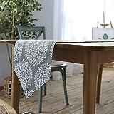 Huldoro Amerikanisches Tischdecke Baumwoll-Leinen-Tischfahne Tischtuch Kaffee...