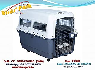 """Birds' Park Flight Dog Crate IATA Approved Flight Dog Carrier 47-48"""" Extra Large for International AIR Cargo -WE Ship -AIR or Available IGI Delhi Airport"""