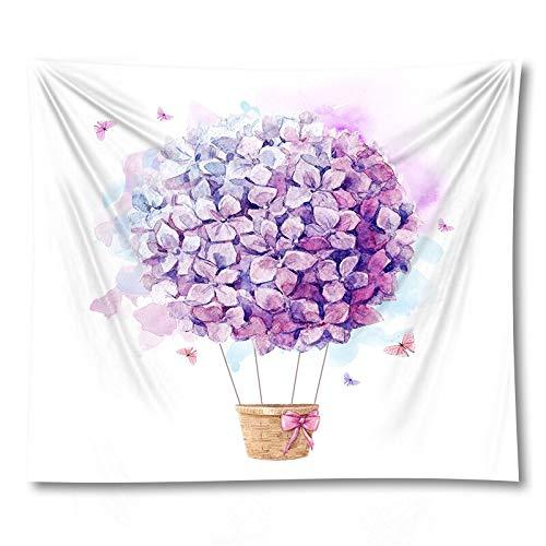 PPOU Flor Cortina Mantel Colgante de Pared Tapiz Bohemio decoración de la Pared del hogar Fondo Tela Tapiz sofá Manta A13 130x150cm