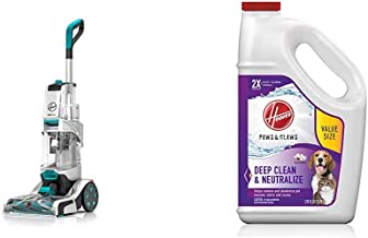 Hoover Smartwash Automatic Carpet Cleaner, FH52000, Turquoise & Paws & Claws Deep Cleaning Carpet Shampoo, Concentrated Ma...
