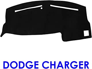 JIAKANUO Auto Car Dashboard Dash Board Cover Mat Fit for Dodge Charger 2011-2018 (Black) MR003