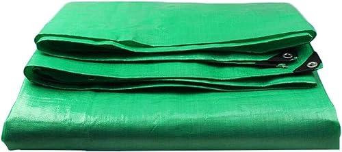 LIAN Bache UV de Prougeection Contre la Pluie Externe résistante aux intempéries de la poussière de bache pour Le Camping Vert de Jardin (Taille   6x8m)