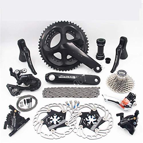 Cykeltillbehör för utomhussporter R7000 Groupset 105 A8000 skivbromsväxel väg cykel R7000 växel FC 53-39T 50-34T 52-36T CS 25T 28T för Shi-ma-no (Storlek: 52 36T 170MM 32T)