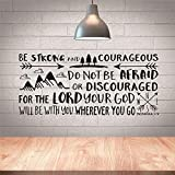 Quote of Bible Verse Joshua 1:9 Wall Sticker Vinyl Decals Be Strong and Courageous Words Boy Kids Room Home Decor Wallpapers