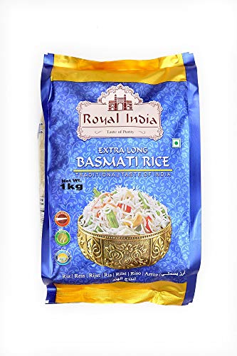 Basmati Reis Royal India Steam - Extra Long - Originaler Basmati Reis 1121-1Kg.