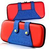 Carrying Case for Switch Lite, [Color-Clash Attractive Appearance][Full Protective ][Large Storage] Carrying Case Storage Bag for Switch Lite,Travel Carry Case Bag for Switch Lite & Accessories-Red