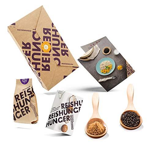 Reishunger Mango Sticky Reis Box (4-teilig, bis zu 4 Personen) Original Zutaten für thailändisches Dessert – Ideal auch als Geschenk