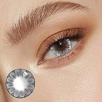 2個/ペアカラーコンタクトレンズアイカラーレンズ0-800ソフトマンスリーマルチカラー美しい瞳孔パーティーギフトガールデコレーション14.5mm (PWR -7.50,H04)