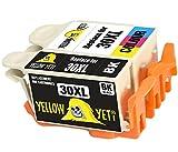 Yellow Yeti Reemplazo para Kodak 30 30XL 30B 30CL Cartuchos de Tinta compatibles con Kodak ESP C100 C110 C115 C300 C310 C315 C330 C360 1.2 3.2 3.2S Hero 2.2 3.1 5.1 Office 2150 (1 Negro + 1 Color)
