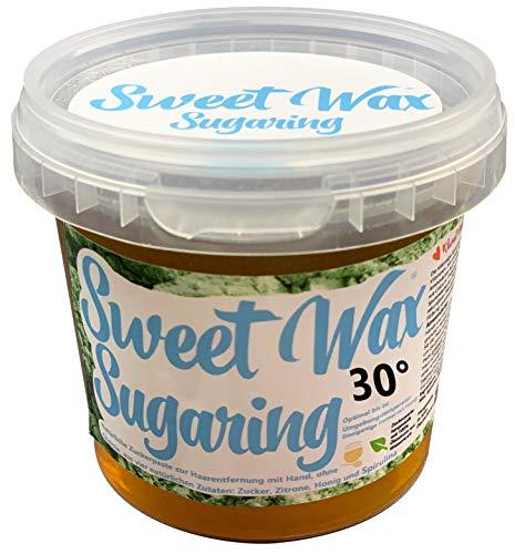 Sweet Wax 30° - Oliv - 449g Natürliche Sugaring Zuckerpaste zur Haarentfernung per Hand. 30° für heiße Sommer Tage. Brazilian Wax zur enthaarung für zuhause.