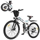 VIVI Folding Electric Bike,350W Ebike 26inch Electric Mountain Bicycle Lightweight E-Bike,Electric Bicycles for Adults &Men&Women, with Shimano 21 Speed Gears