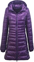 YOUMU Womens Long Quilted Puffer Coat Puffa Parka Padded Down Jacket Hooded Winter