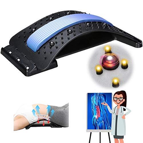 Jeteven Rückenstrecker,Back Stretche,Rückenbahre Mit Magnetfeldtherapie,Rückentrainer Rückenmassage Unterstützung,Rückendehner zur Rückenschmerzlinderung Haltungskorrektur