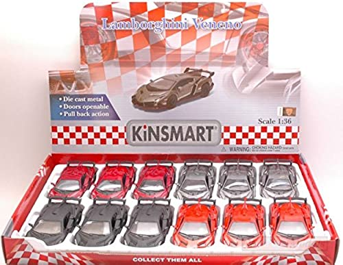 Kinsmart KT5367D Lamborghini VENENO 1 36 Set Box 12 PEZZI Pieces DIE CAST Model kompatibel mit