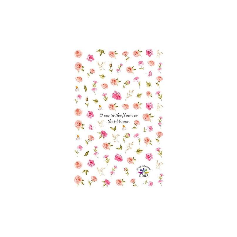 策定するオリエンテーション詐欺師ネイルシール アンティークローズシール ジェルネイル ネイルアート 花柄 花びら フラワーネイル 薔薇 セルフネイル
