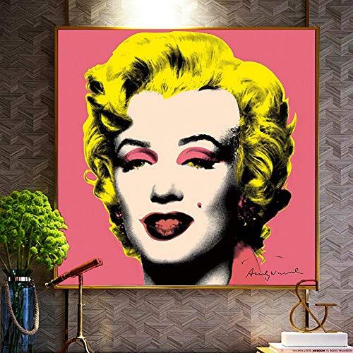 wZUN Cuadro de Arte de Pared de Arte de Lienzo de Pintura al óleo de impresión HD para decoración del hogar de la Sala de Estar 60x60 Sin Marco