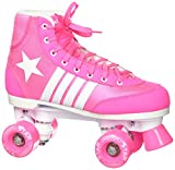 Epic Skates 2016 Star Carina 4 Indoor/Outdoor Classic High-Top Quad Roller Skates, Pink