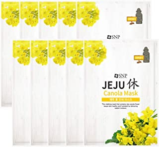 SNP | Shining Nature Purity Jeju's Calming Canola Mask | Korean Skin Care Pack of 10 (Vitality)