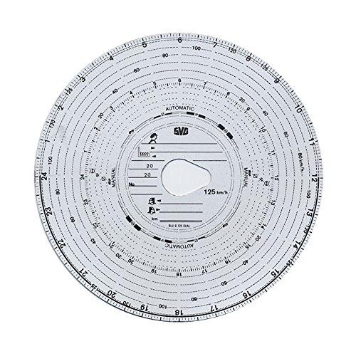 10 Packungen Tachoscheiben Diagrammscheiben bis 125 km/h Tachoblatt Kontrollscheiben 125-24 Fahrtenschreiberscheiben Tachographen