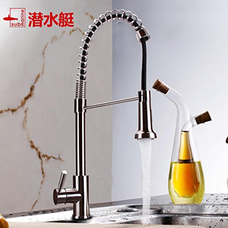 Gyps Faucet Waschtisch-Einhebelmischer Waschtischarmatur BadarmaturPull-down-Küche Wasserhahn und Kaltes Wasser Gerichte Waschbecken aus Edelstahl 304 Dicken Schwanz L3045 zu Waschen.