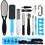 Professional Pedicure Kit Nunalisa Foot Files Set Tools Double Sided Files Exfoliating Prevent Dead Skin Foot Skin Care Tool Set Salon Pedicure Kit Washable Effectively 13 in 1