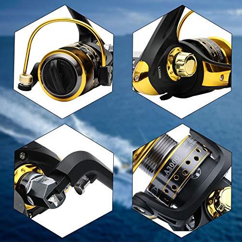 BNTTEAM 7 PACKS 2.1m,2.4m,3.0m 3.6m 99% Carbon Telescopic Fishing Rod & 11BB Reel & Fishing Bag & Lures & Line, Fishing Rod Combo Set (T2, 3.0)