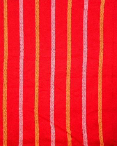 Maasai Shuka AFRIKA ETHNO Überwurf Aus Baumwolle, Für Dekorationen &Picknick, Streifen, Rot/Gelb &Weiß