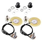 2 Piezas Pastilla Piezoeléctrico Transductor Precableado Amplificador para Guitarras...