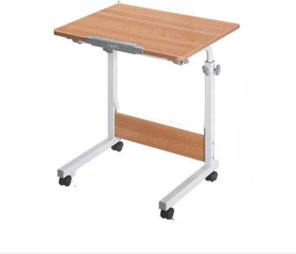 NAN Bureau d'ordinateur Portable Simple Bureau de lit Petite Table de Bureau Bureau d'étude de Chevet de dortoir Bureau d'étudiant (Taille facultative) (Taille   60  50cm)