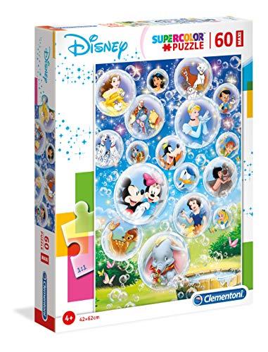 Clementoni- Puzzle Suelo 60 Piezas Disney Classic, Multicolor (26448.3)