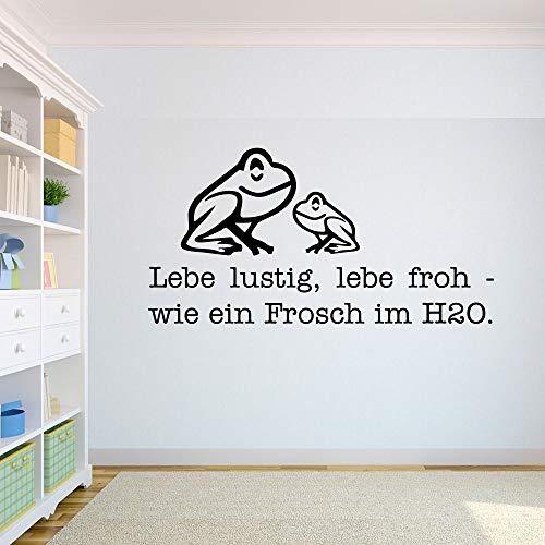 Pegatina Promotion Lebe lustig lebe froh wie EIN Frosch im H2O niedliche Frösche quak 60cm Aufkleber,Autoaufkleber,Wandtattoo,Sticker UV& Waschanlagenfest,Profi Qualität