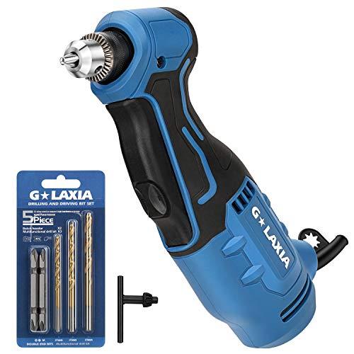 """G LAXIA Professional Taladros de impacto, 400W Velocidad variable (0-1300 RPM), Mango Antideslizante,Tamaño del mandril 10mm(3/8""""),ideal para proyectos de perforación"""