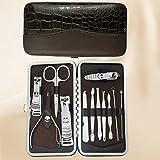 LONGLING Set de manicura Profesional, Juego de cortaúñas 12 en 1 Kit de Aseo de Acero Inoxidable Gran Regalo para Hombres y Mujeres(C)