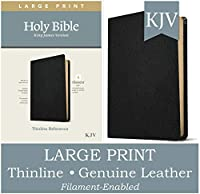 Holy Bible: King James Version, Black, Genuine Leather, Filament Enabled: Thinline Reference