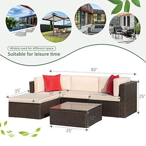 Devoko 5 Pieces Patio Furniture Sets