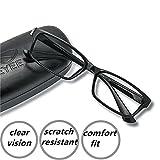 EyeYee Reading Glasses +0.50 Black- Rectangle Full Rim Anti Reflective Mens...