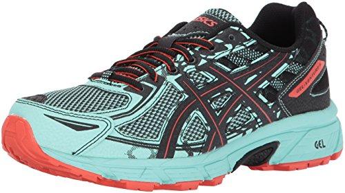 ASICS Women's Gel-Venture 6 Running-Shoes,Ice Green/Black/Cherry Tomato,8 Medium US