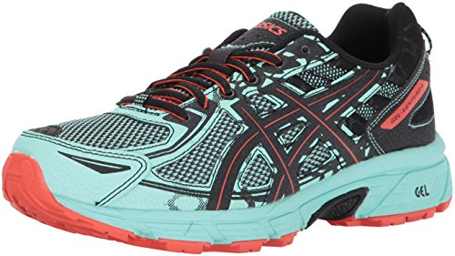 ASICS Women's Gel-Venture 6 Running-Shoes,Ice Green/Black/Cherry Tomato,9 Medium US