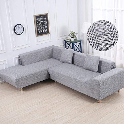 Maneray Sofa Cover L Shape Sofa Slipcover Anti Slip Stain Resistant Pet Furniture Protector Modern Corner Sofa Covers 2seater and 3seater