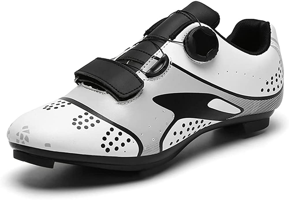 QFJB Spin Shoes, Cycling Shoes for Men, Bikes Shoes for Women, MTB Shoes, Peloton Shoes Women, Bike Shoes, Sneakers, SPD Spin Shoes, Perfect for Indoor& Outdoor Riding Cycling Exercise