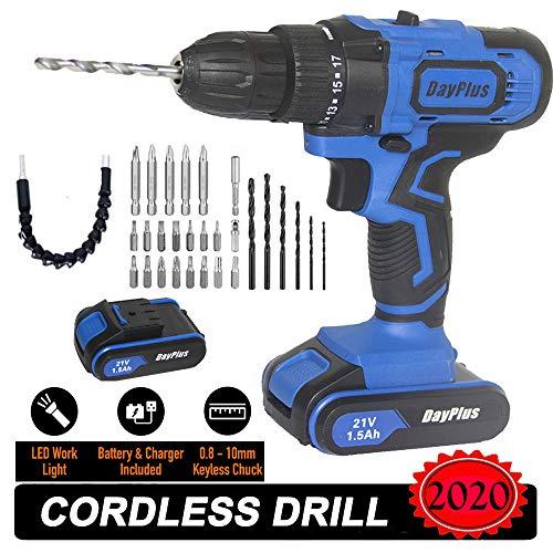 Best Price! Cordless Drill And Screwdriver Set Muti-tool Hammer & Magnet, Come with One Li-Ion Batte...