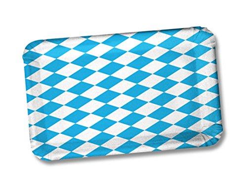 50 Pappteller rechteckig Bayrische Raute / Bavaria / Bayern ca. 24 x 17 cm