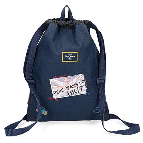 Pepe Jeans Scarf Mochila Tipo Casual, 46 cm, 0.81 litros, Azul
